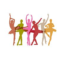 Colorful Dancing Ballerinas by peculiardesign
