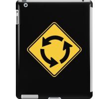 Roundabout Sign iPad Case/Skin