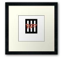 Paramore - Riot! Three Bars Framed Print