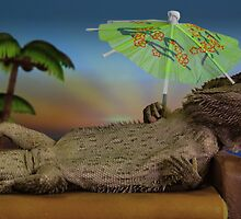 Lizard on holiday by Sharon Stevens