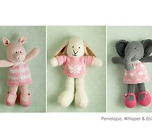 pink girls by bunnyknitter