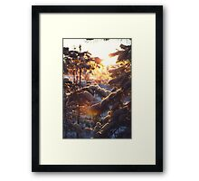 Magical winter forest Framed Print