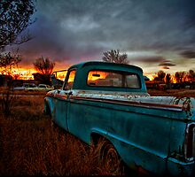 Old Truck and Sunset by Paul  Threlkel