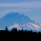 Mt. Rainier in February by Sue Morgan