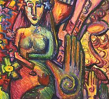 Ancient Fertility Goddess of Mexico by Candace Byington