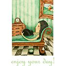 enjoy your day (at home) by bunnyknitter