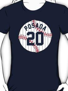 Jorge Posada Baseball Design T-Shirt
