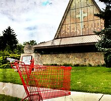 church and cart by Kate Wilhelm
