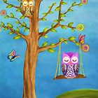 Owl & Dreams by AnaCBStudio