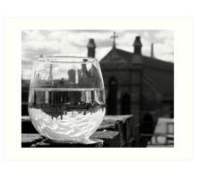 Wineglass in Charlestown Art Print