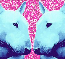 english bull terrier by keyartdesign