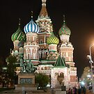St. Basil&#x27;s Cathederal At Night by beckett