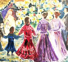 Dancing around the Christmas tree by Ruth Vilmi