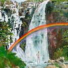 Waterfall Rainbow Shower by ienemien
