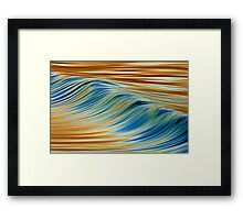 Abstract Wave Framed Print