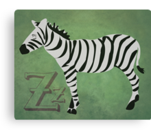 Sleepy Zzzebra Canvas Print