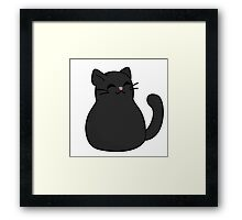 Black Kitty Cat Framed Print