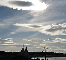 Clouds over Cardiff Bay Barrage by AlvinBurt