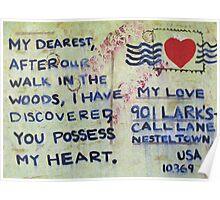 Valentine Postcard  Poster