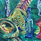 French Horn Still Life (Oils)- by Robert Dye