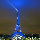 La Tour Eiffel En Bleu by John Douglas