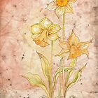 The Grunge Daffodils (Card) by AngelArtiste