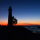 Crisp Point Lighthouse II by Megan Noble