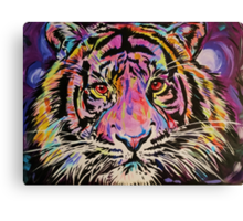 Pop Art Tiger Eyes Canvas Print