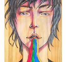 Rainbow puke by Paintingpixel