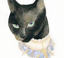 Friday the 13th Pt1: Unlucky Fancy Black Cat Portrait by Anila Tac