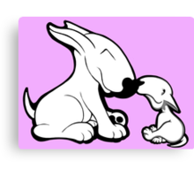 English Bull Terrier Mother's Day Love Canvas Print