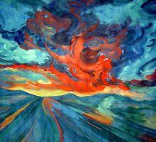Landscape red by Nurhilal Harsa