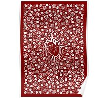 rose vine and human heart Poster