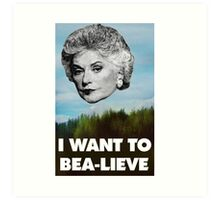 I Want to Bea-lieve Art Print