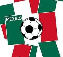 Flag of Mexico Football by piedaydesigns