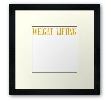 New Sexy Weight Lifting T-shirt Framed Print