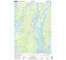 Maine USGS Historical Map Phippsburg 102877 2000 24000 Photographic Print
