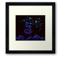 Northern Lights Dragon Framed Print
