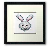 Happy Bunny Rabbit Face Cartoon Balloon Character Framed Print