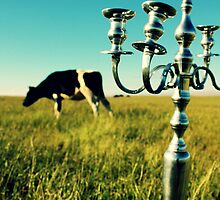 Cow Candelabra by Betenoir