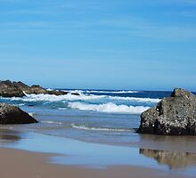 Low Tide - Redhead Beach NSW by Bev Woodman