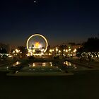 Panoramic view of nice by night by olivier bareau