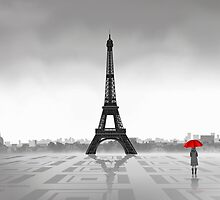 Paris (Vectorillustration) by CarolinaMatthes