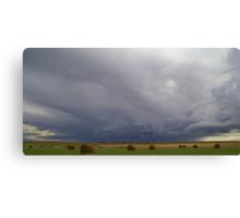 Hay Bale Storm Canvas Print