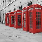 Red Telephone Boxes by Qish