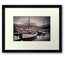 Constitution Dock, Hobart Wharf, Tasmania Framed Print
