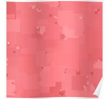 Strawberry Ice Square Pixel Color Accent Poster