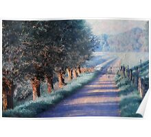 By Road of Your Dream. Monet Style Poster