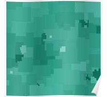 Lucite Green Square Pixel Color Accent Poster