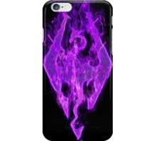 Purple Skyrim Logo iPhone Case/Skin